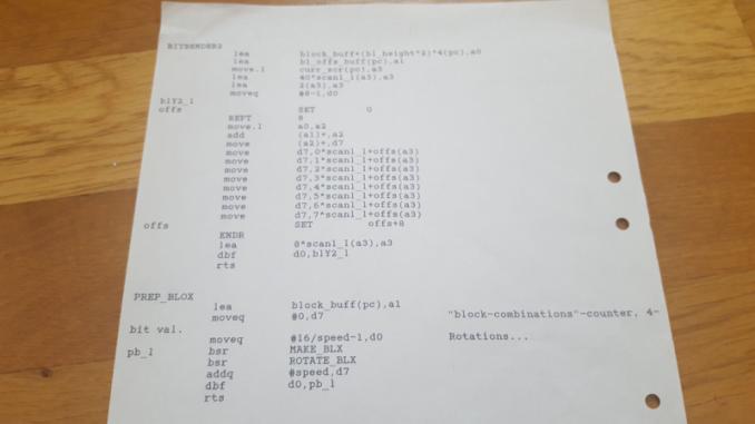 Atari ST Sine scroller